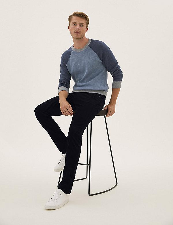 Slim Fit Corduroy 5 Pocket Trousers