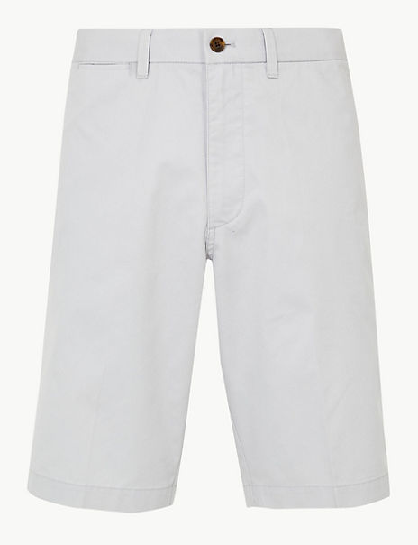 Super Light Weight Longer Length Chino Shorts