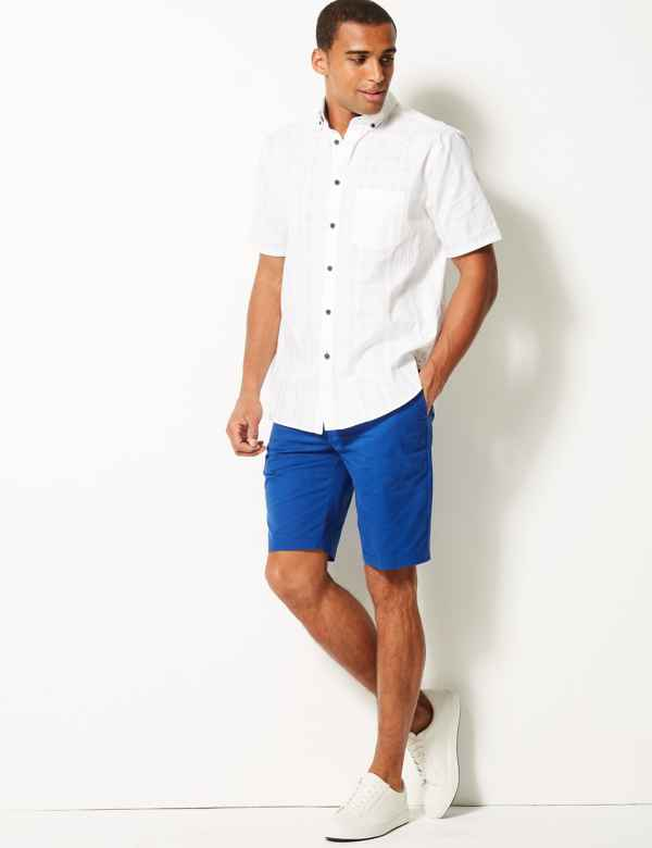 Bright Summer Men Shorts Pants Linen Short Beach Shorts Men Beach Pant Fashion Board Shorts
