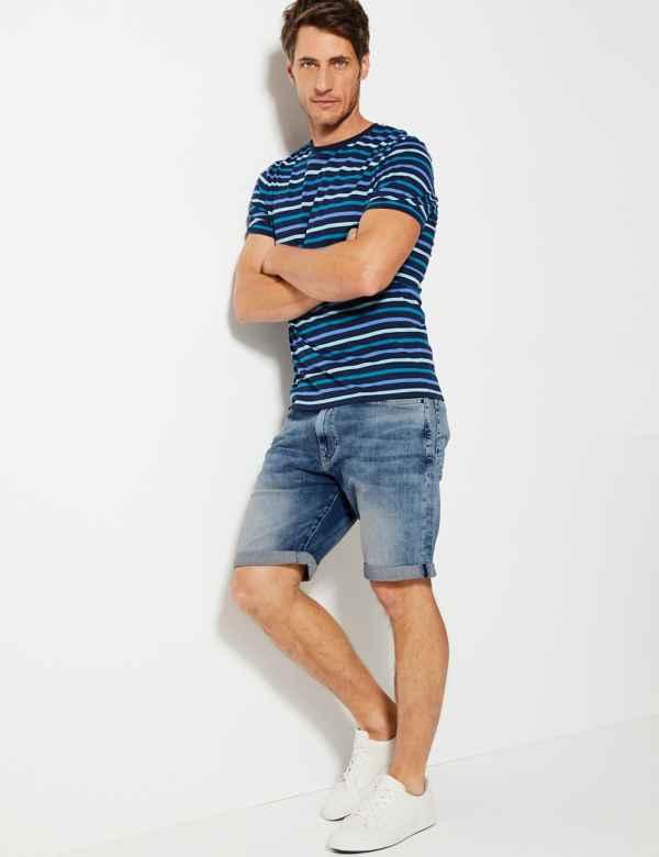 b4b529fb71e Mens Chino & Cargo Shorts   3/4 Length Shorts For Men   M&S