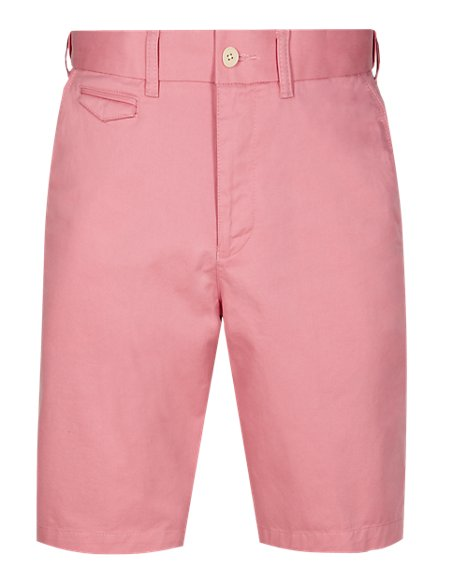 Water & Stain Resistant Pure Cotton Shorts with Adjustable Waist