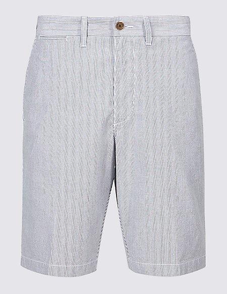 Pure Cotton Striped Chino Shorts