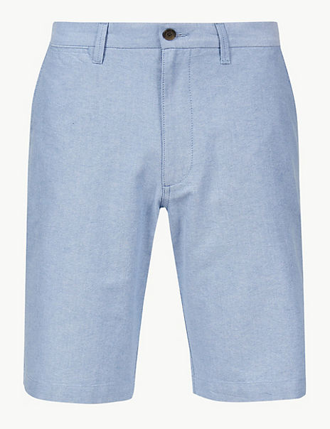 Pure Cotton Chambray Shorts
