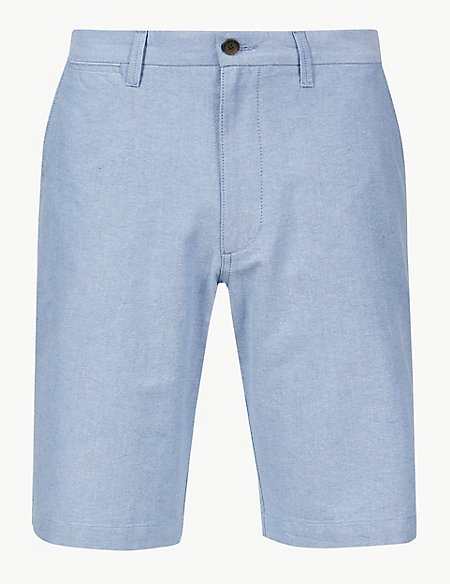 Pure Cotton Chambray Shorts