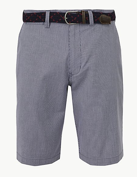 Cotton Rich Shorts with Stretch