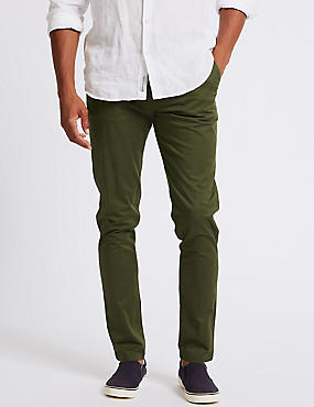 Skinny Fit Cotton Rich Chino