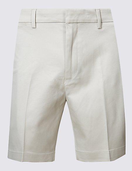 Cotton Rich Slim Fit Shorts