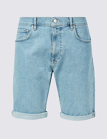 Denim Shorts with Stretch