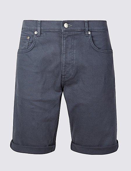 Garment Dye Denim Shorts