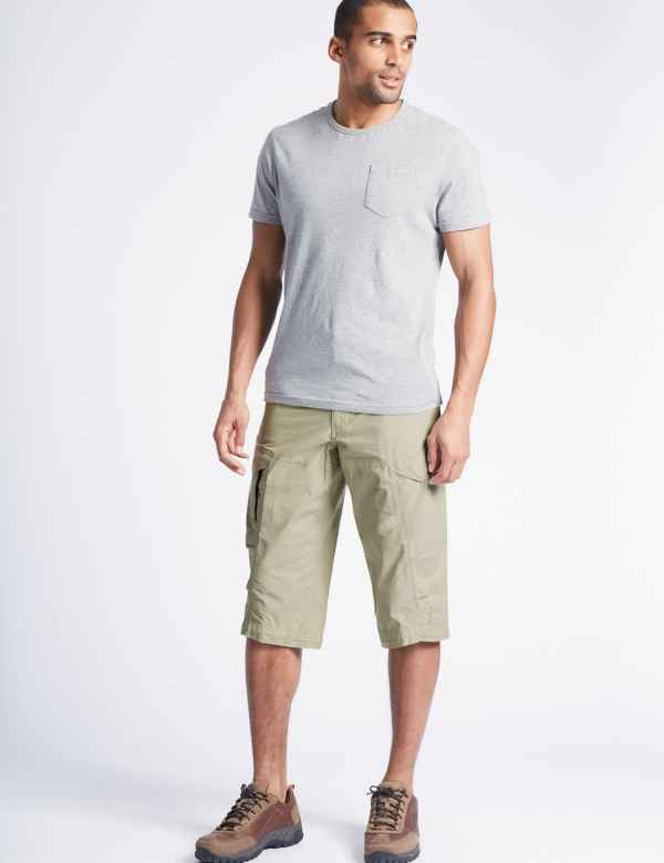 30c6090bf7 Mens Chino & Cargo Shorts | 3/4 Length Shorts | M&S IE