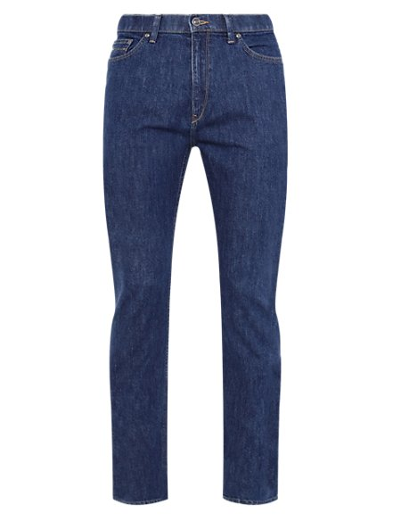 Tapered Water Resistant Jeans with Comfort Stretch