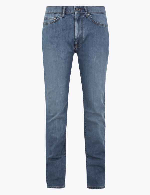 3890eff90fa Mens Tapered Jeans   Stretch Tapered Fit Jeans   M&S