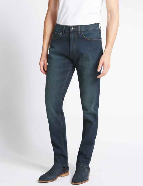 c3d83795 Tapered Fit Stretch Jeans with Stormwear™. Online Only. M&S Collection
