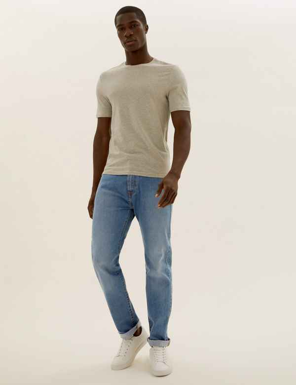 66ea6a1639f0 Mens Regular Fit Jeans | Regular Fit Stretch Jeans | M&S