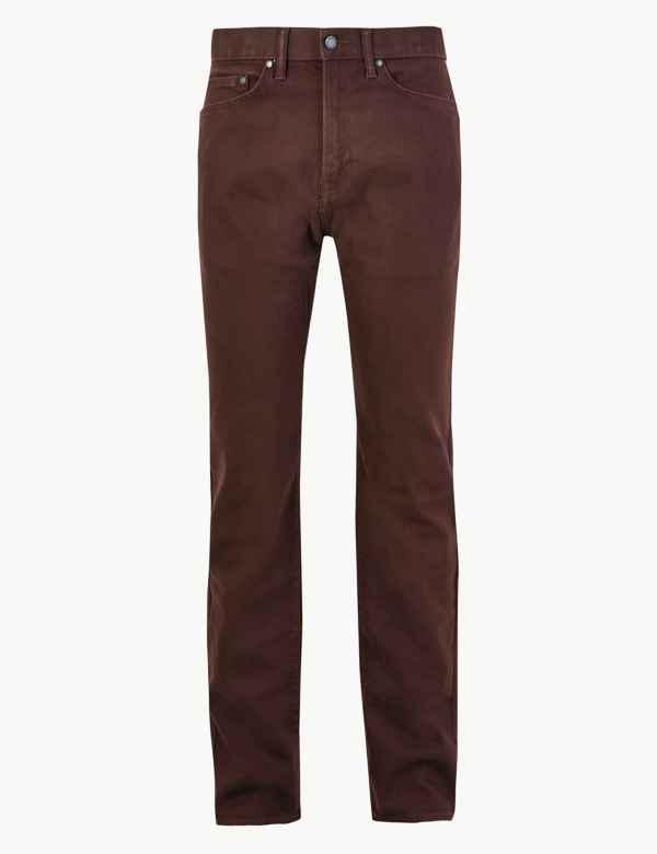 großer Rabatt ganz nett fantastische Einsparungen Mens Regular Fit Jeans | Regular Fit Stretch Jeans | M&S