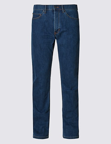 Straight Fit Stretch Jeans with Stormwear™