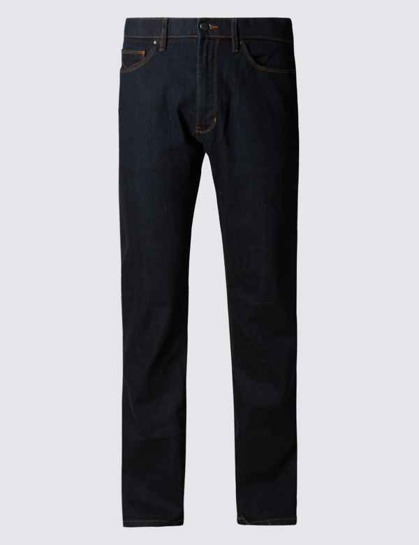 e1858bcedf Straight Fit Stretch Jeans with Stormwear™ | M&S Collection | M&S