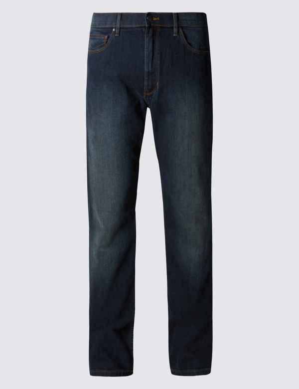 5d2b5c45fb38b Big   Tall Straight Fit Jeans with Stretch