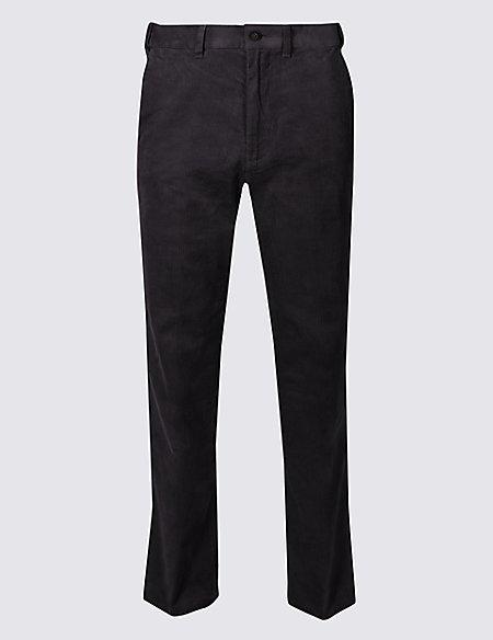 Regular Fit Pure Cotton Corduroy Trousers