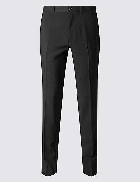 Big & Tall Slim Fit Flat Front Trousers