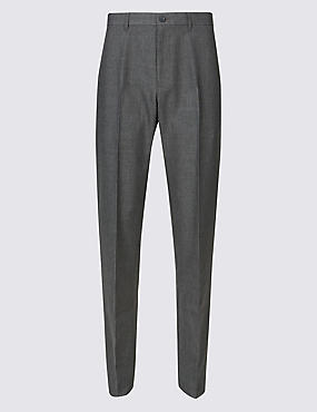 Big & Tall Regular Fit Flat Front Trousers