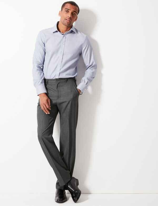 c8f1cc3813e Regular Fit Flat Front Trousers
