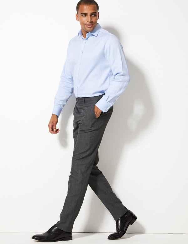 a2cc5d87ece Slim Fit Flat Front Trousers