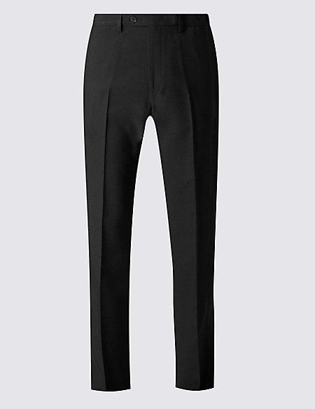 Big & Tall Regular Fit Flat Front Trousers