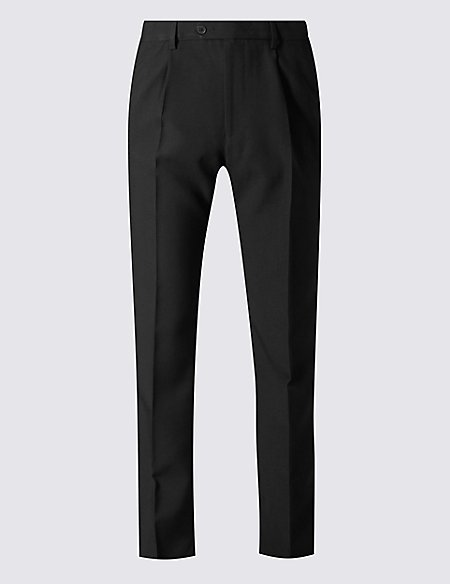 Big & Tall Regular Single Pleated Trousers