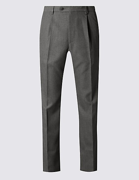 Regular Fit Single Pleated Trousers