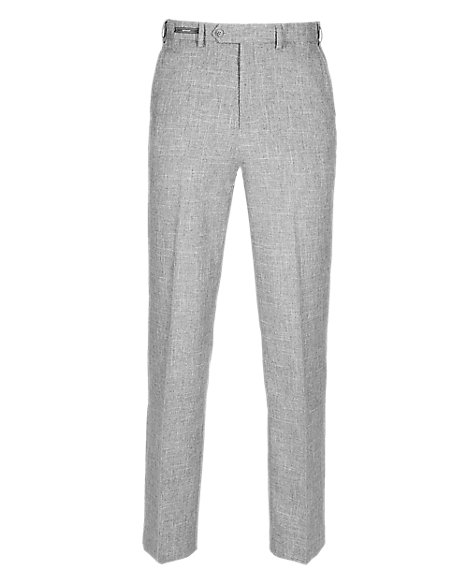 Crease Resistant Flat Front Lightweight Trousers