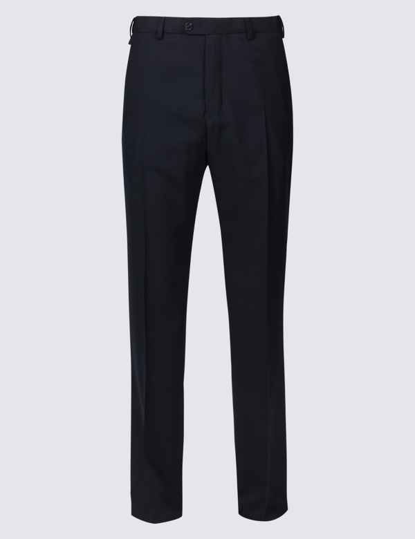 40d54fe8ada2e Big   Tall Wool Blend Flat Front Trousers