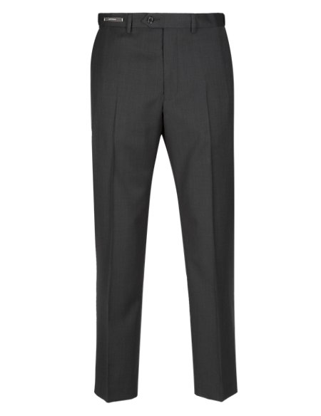 Supercrease™ Active Waist Flat Front Trousers with Wool