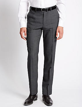 Big & Tall Tailored Fit Wool Blend Trousers