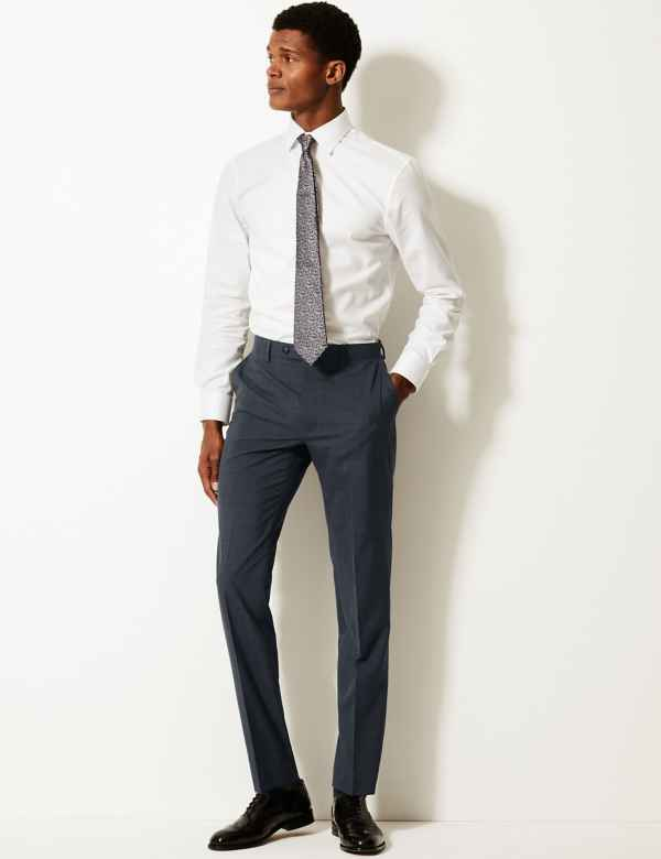 818b15cc95c Slim Fit Flat Front Trousers with Wool. New