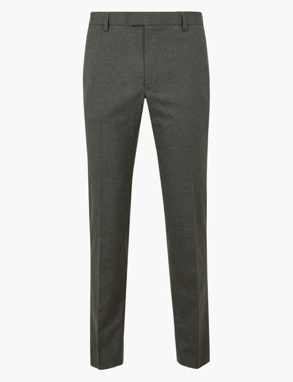 9b533b52aeb Skinny Fit Flat Front Trousers