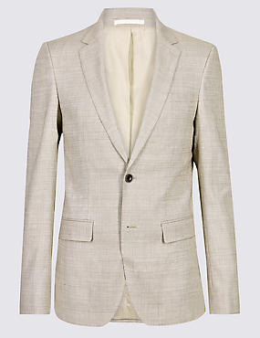Linen Miracle Slim Fit Textured Jacket