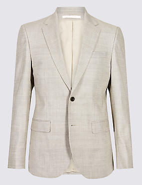 Linen Miracle Regular Fit Textured Jacket