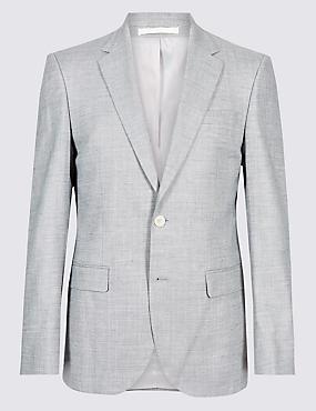 Linen Miracle Regular Fit Textured Jacket
