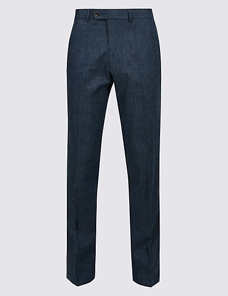 Linen Miracle Slim Fit Textured Trousers