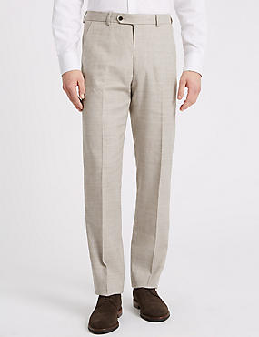 Linen Miracle Regular Fit Textured Trousers