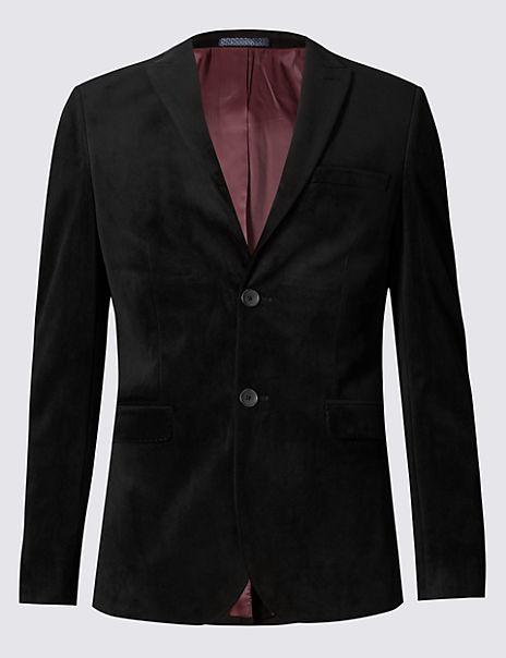 Slim Fit Velvet Jacket