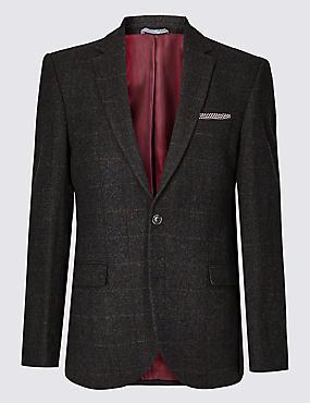 Big & Tall Wool Rich Tailored Fit Jacket