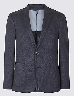 Indigo Slim Fit Textured Jacket