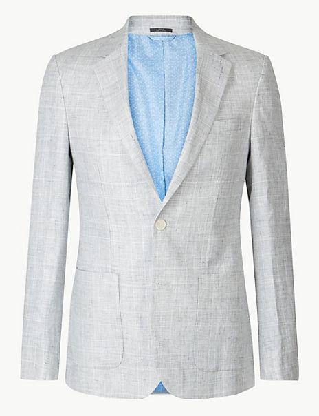 Big & Tall Checked Slim Fit Jacket