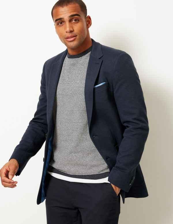 84ab2f5427 Cotton Blend Slim Fit Jacket
