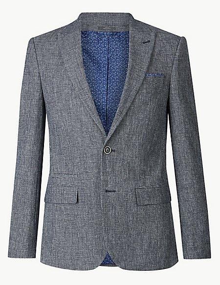 Cotton Rich Slim Fit Jacket