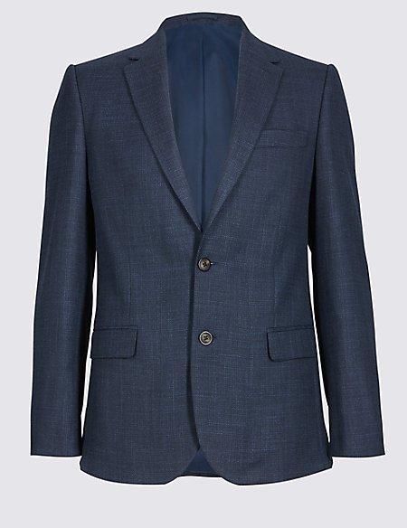 Textured 2 Button Slim Fit Jacket