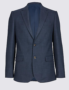 Textured 2 Button Slim Fit Jacket