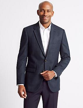 Big & Tall Textured 2 Button Regular Fit Jacket